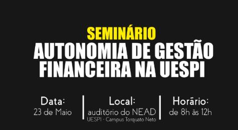 ADCESP CONVIDA PARA SEMINÁRIO AUTONOMIA DE GESTÃO FINANCEIRA