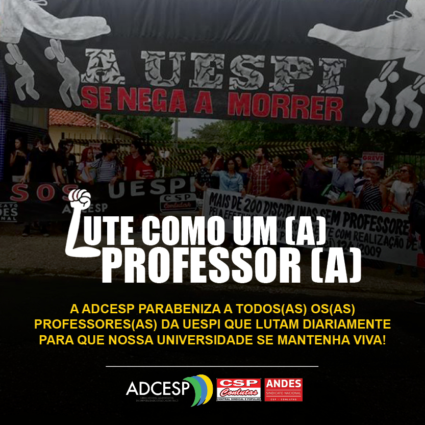 A ADCESP parabeniza a todos(as) os(as) professores(as) da UESPI