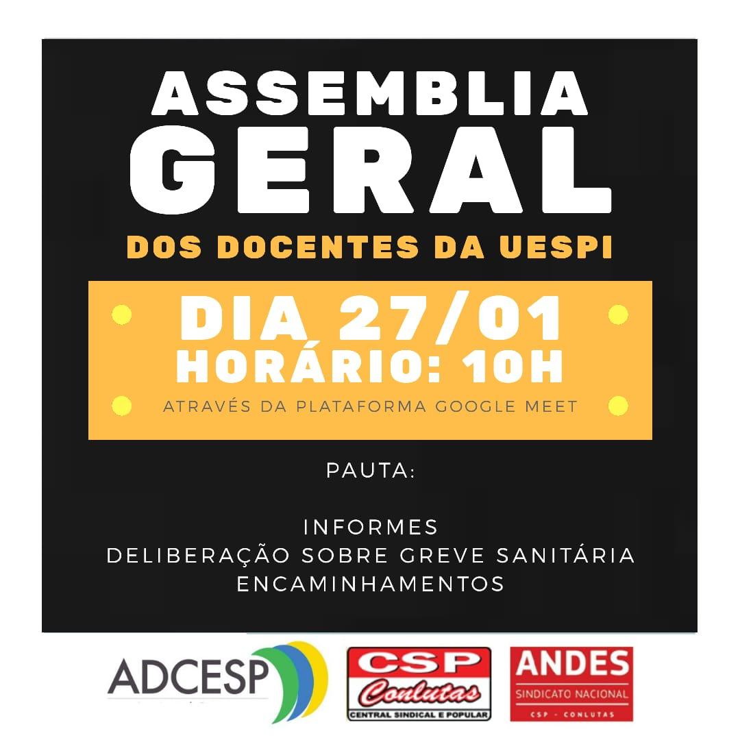 ADCESP debate Greve Sanitária em Assembleia Geral, nesta quarta-feira (27)