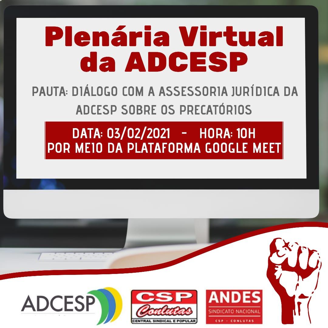 ADCESP convida categoria para Plenária sobre Precatórios
